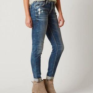 Silver Super Stretch Girlfriend Skinny Jeans